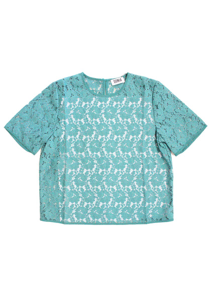 Shortsleeve Lace Blouse
