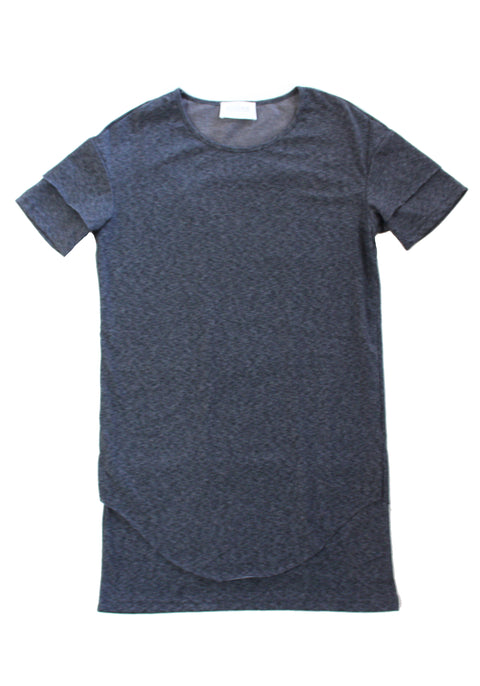Slugger Drop Shoulder Tee in Charcoal