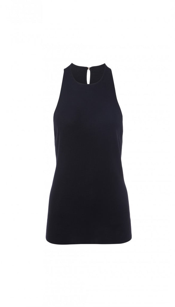 Claire Sweater Tank in Black