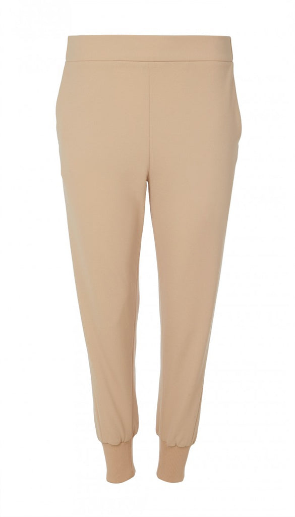 Structured Crepe Jogger in Nude