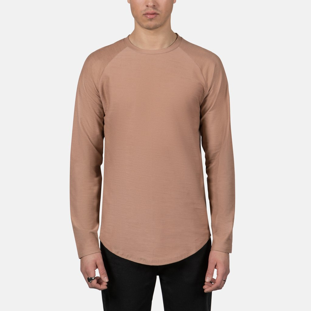 Scooped Longsleeve Tee in Clay