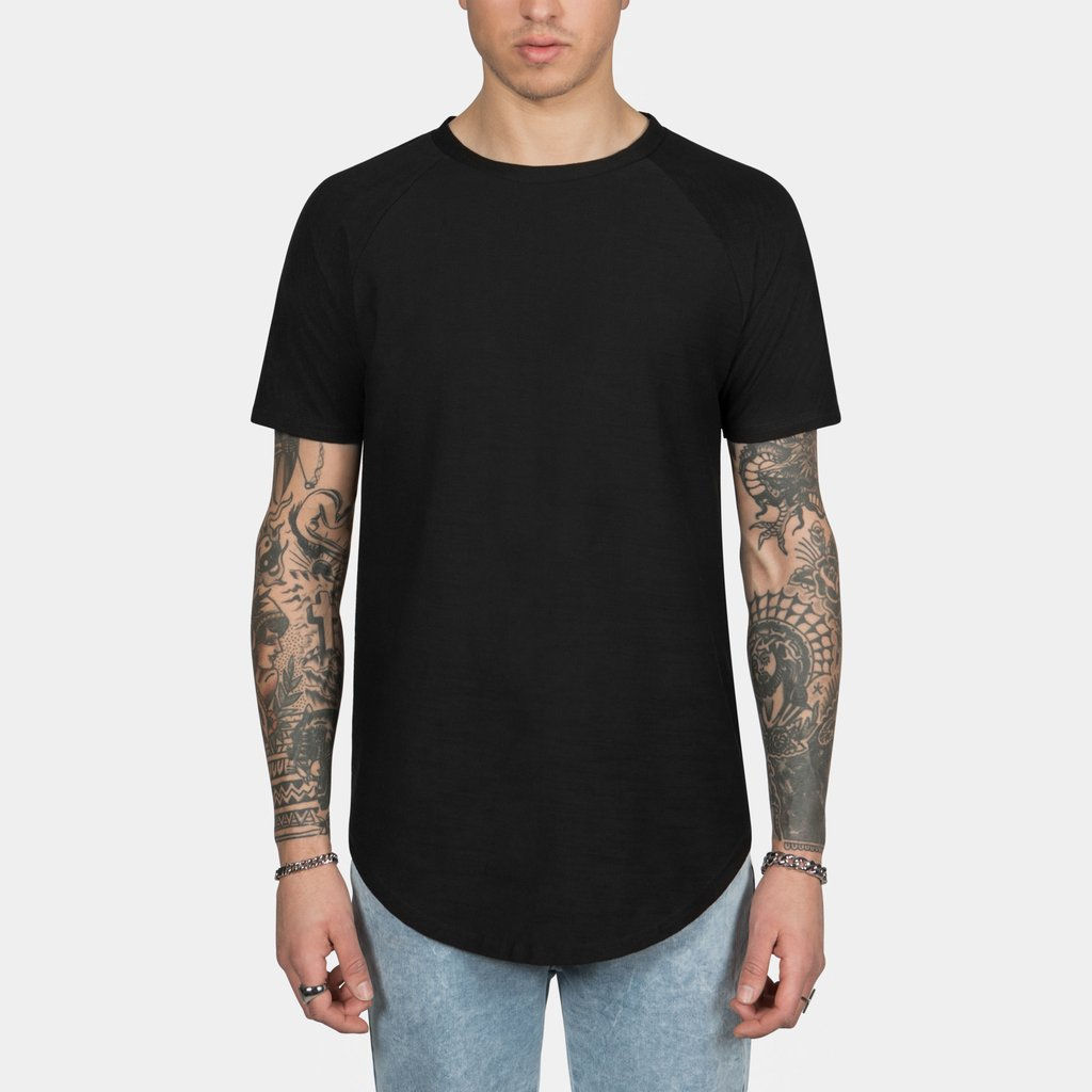 Scooped Tee in Black