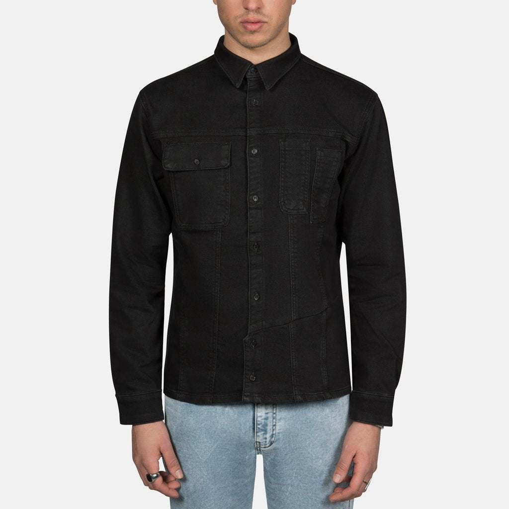 Retooled Trucker Shirt in Vintage Black