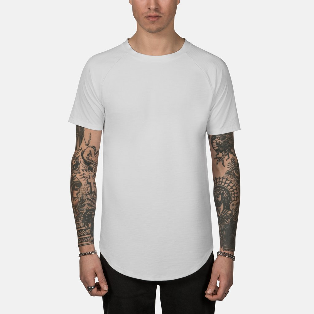 d347c983 Scooped Tee in Off White - Kin Los Angeles