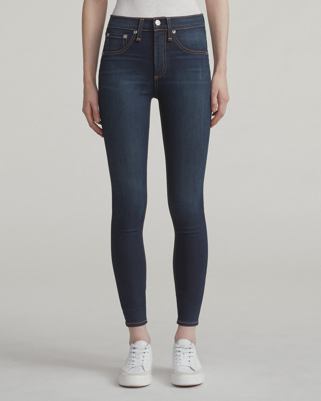 High Rise Ankle Skinny in Bedford