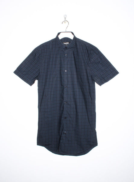 Eight Foot Short Sleeve in Navy Plaid