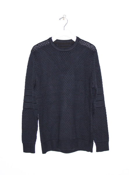 Bronx Crew Knit Sweater in Dark Navy