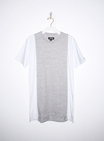 Flintlock Side Tee in Grey and White