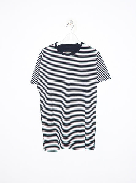 Os 2 Piece Tee In White Stripe/Dark Navy