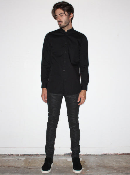 Tuck &ft L/S Shirt in Black