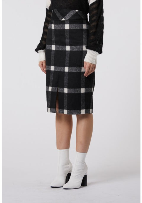 Blondie Wool Check Skirt