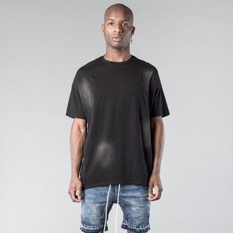 Essential Concave Tee in Faded Black