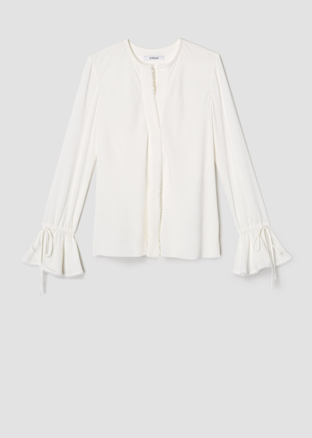 L/S Button-Down Blouse in Soft White