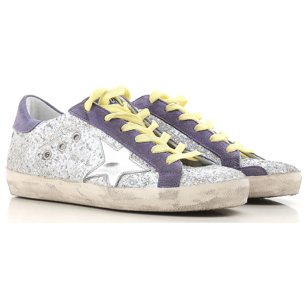 Sneaker Superstar in Purple Glitter