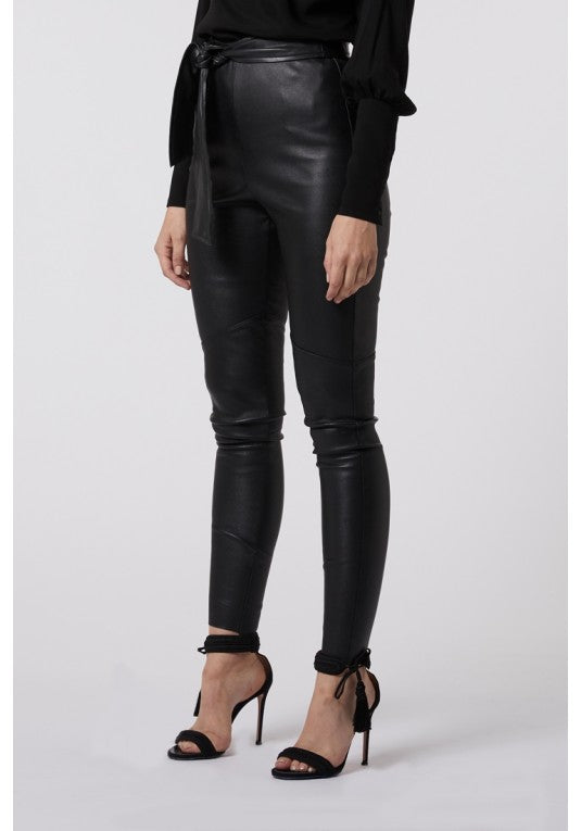 Jett Leather Legging w/ Waist Tie