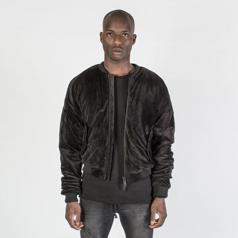 The Velour Oversize Bomber