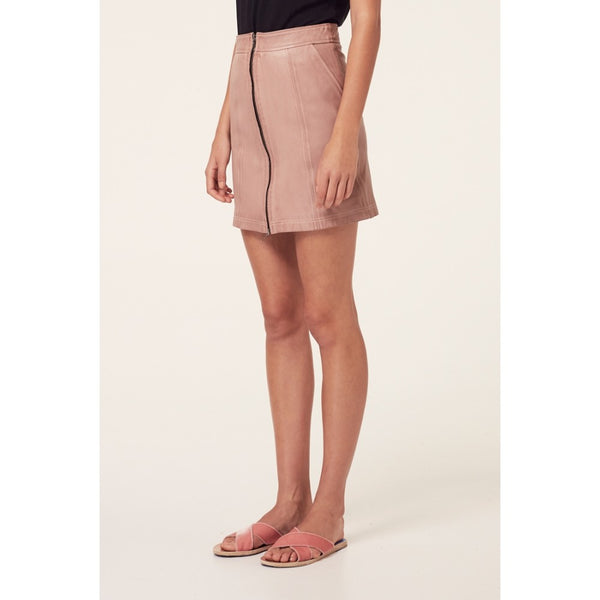 Mahal Washed Zip Front Skirt