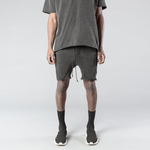 Panel Shorts in Stoned Grey