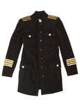 Pierre Balmain Military Coat in Black