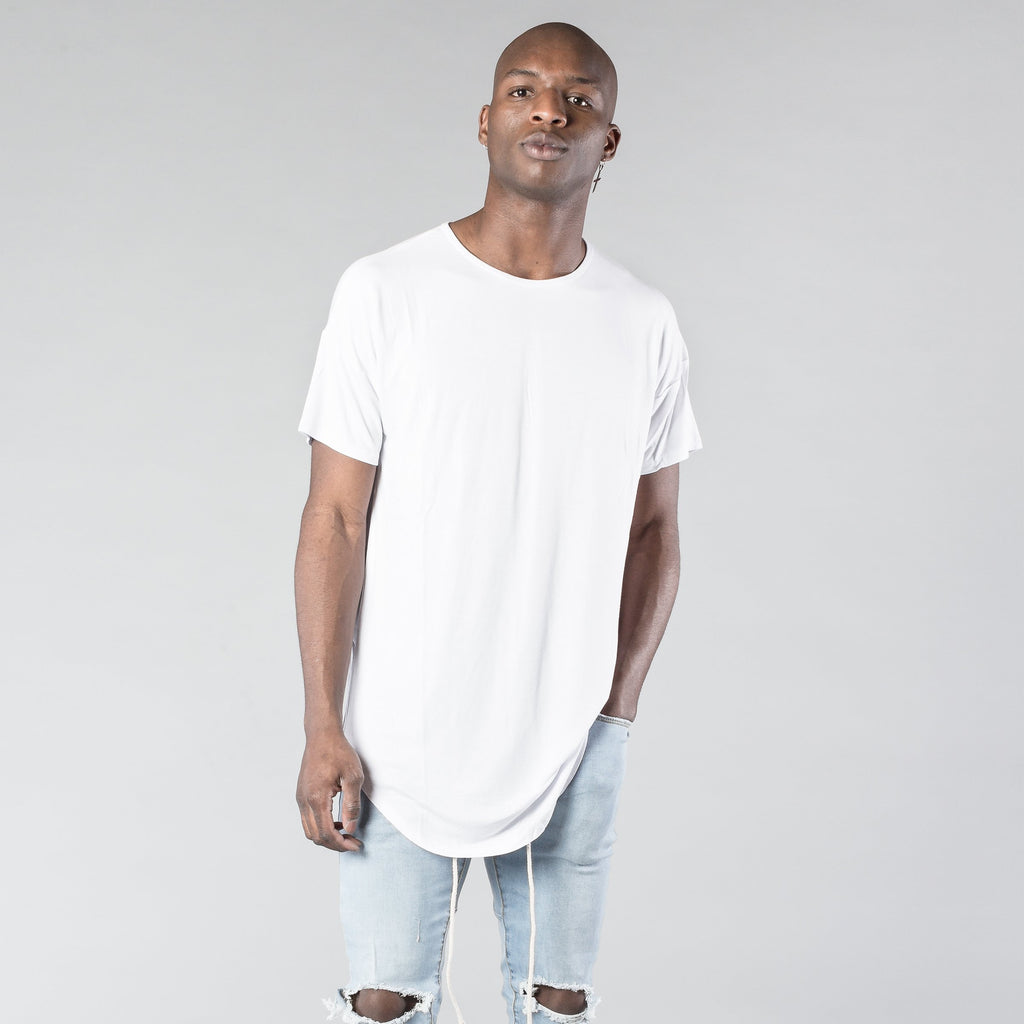 The Essential Scoop Tee in White