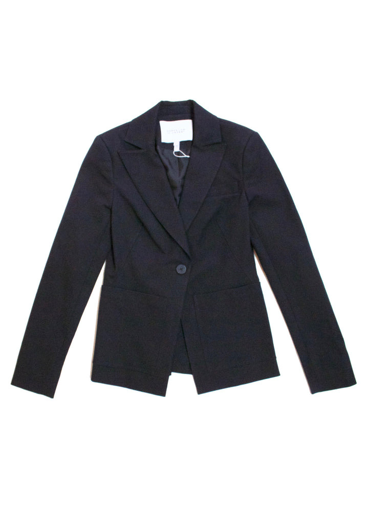 Single Button Blazer in Black