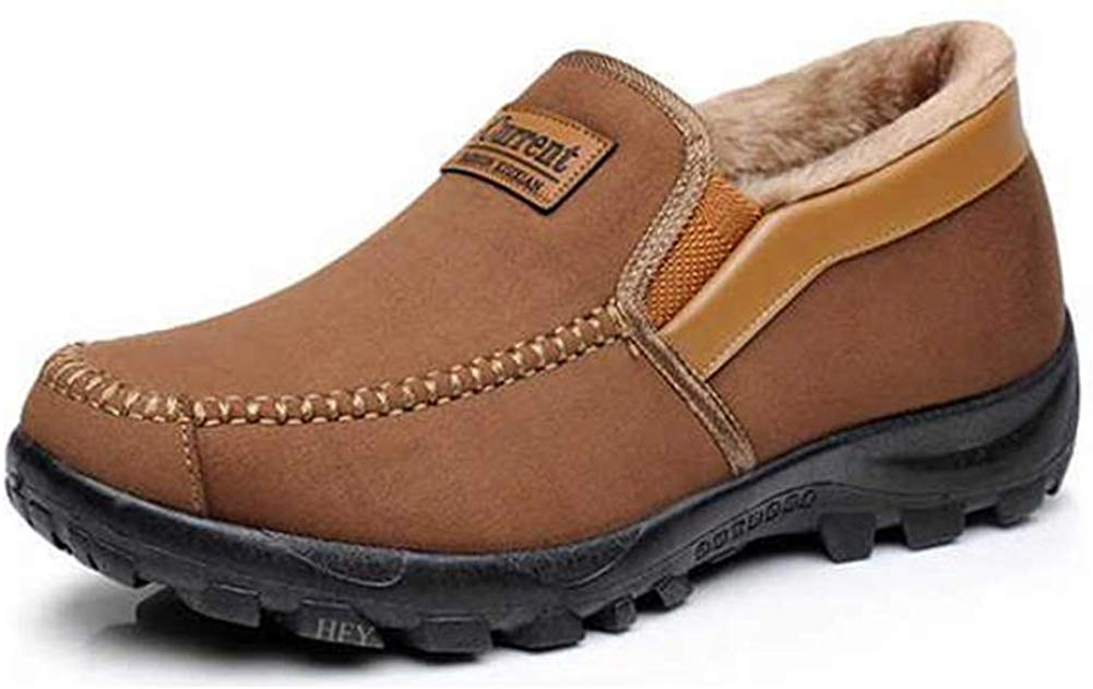 Warm Fur Lined Men's Moccasins Slippers Slip-on Plush Loafers