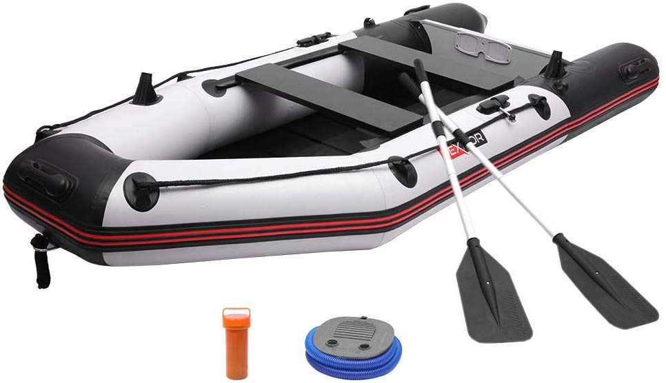 7.5/10FT Inflatable Dinghy Boat 0.9mm PVC Sport Tender Fishing Raft
