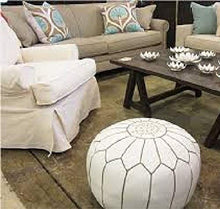 Load image into Gallery viewer, Moroccan Leather Poufs