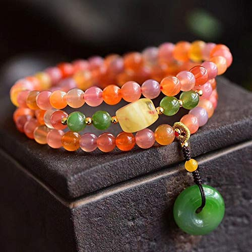JoursNeige Color Natural Crystal Bracelets Beads 6mm