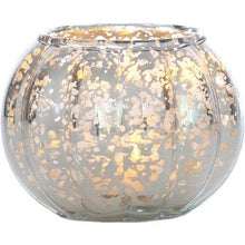 Load image into Gallery viewer, Luna Bazaar Silver Autumn Small Mercury Glass Vase (Set of 4)