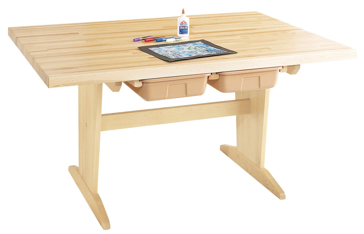 Diversified Woodcraft PT-60M Solid Maple Wood Art/Planning Table