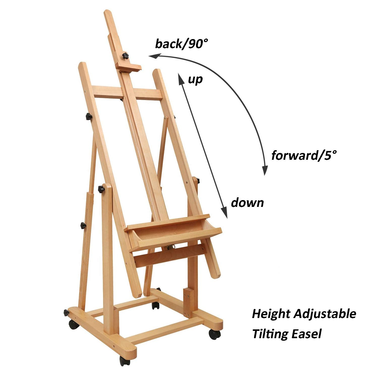Heavy Duty Extra Large H-Frame Studio Easel -