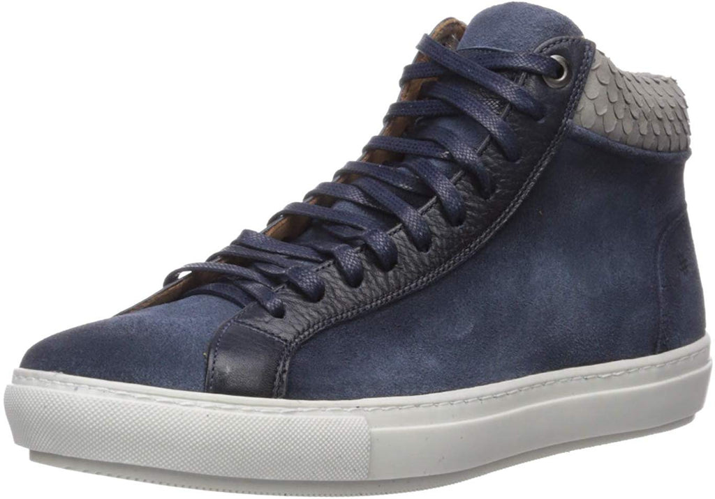 Brothers United Men's Leather Lace Up Sneaker