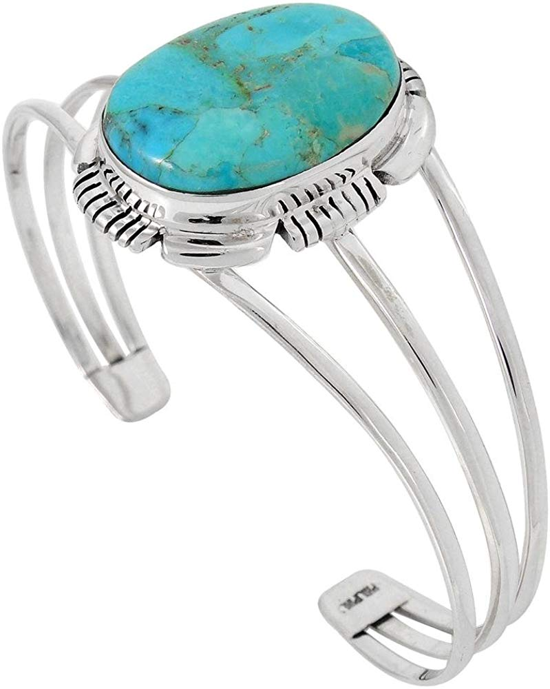 Genuine Turquoise Bracelet Sterling Silver 925