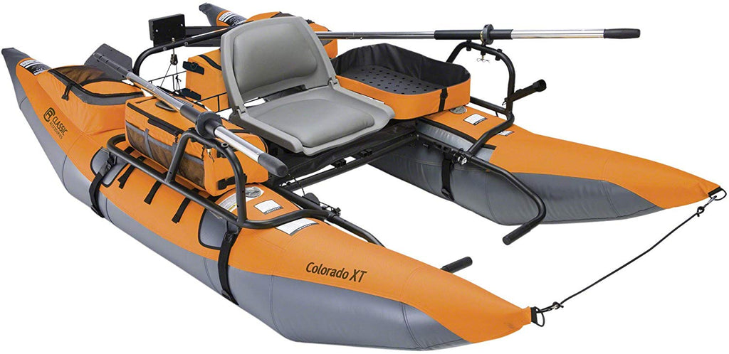 Colorado XT Inflatable Pontoon Boat With Transport Wheel & Motor Mount