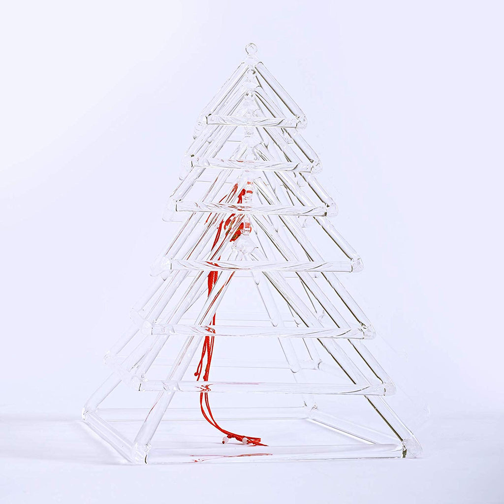 "Set of 7 Perfect Healing Music Instrument Quartz Crystal Singing Pyramid 4""-10"" with Free Suede Stick & Rubber Mallet"