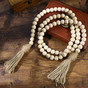 LIOOBO Wood Bead Garland Farmhouse Rustic Country Beads