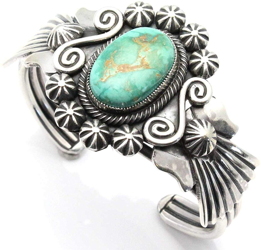 Navajo Three Wire Turquoise Bracelet