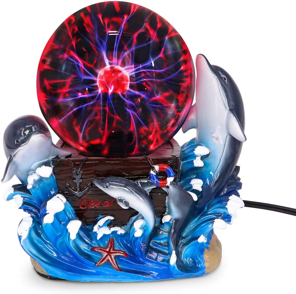 Plasma Ball Lamp Touch Sensitive,Party Magical Electrostatic Red Color Crystal Ball for Christmas (Evil Dragon)