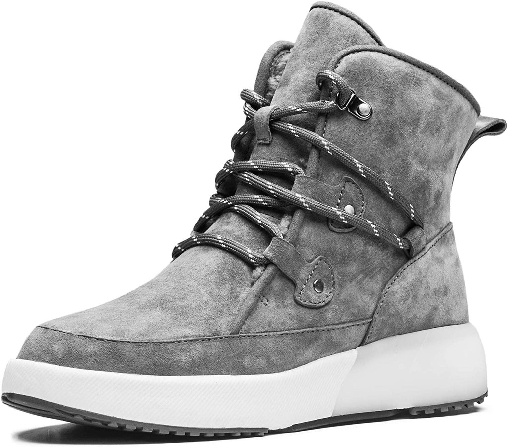Taurus Leather Metal Buckle Suede Winter Snow Boots