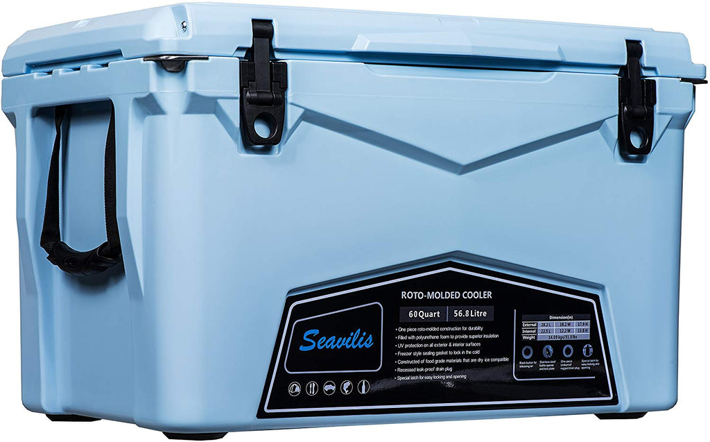 Cooler (Milee)-Heavy Duty & Roto Molded Ice Chest with Free Accessories.