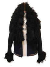 Load image into Gallery viewer, Big Love Black Alpaca Fur Jacket