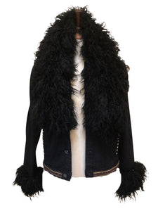 Big Love Black Alpaca Fur Jacket