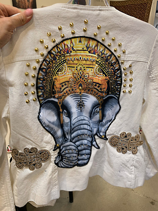 Divine Ganesha Soft Fabric Motorcycle Jacket