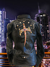 Load image into Gallery viewer, Queen Hekate Leather Certified Armor Motorcycle Chic Jacket