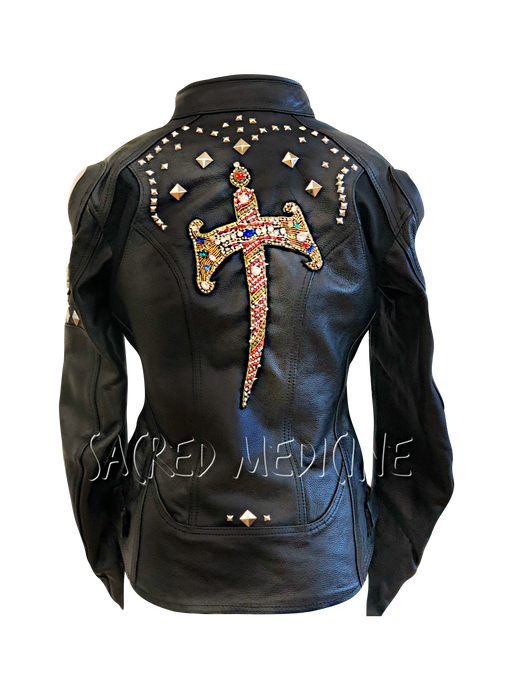 Queen Hekate Leather Certified Armor Motorcycle Chic Jacket
