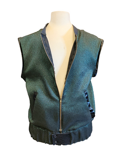 """Keep it 100"" Ultracool 2-in-1 Green Metallic Jacket and Vest Combo"