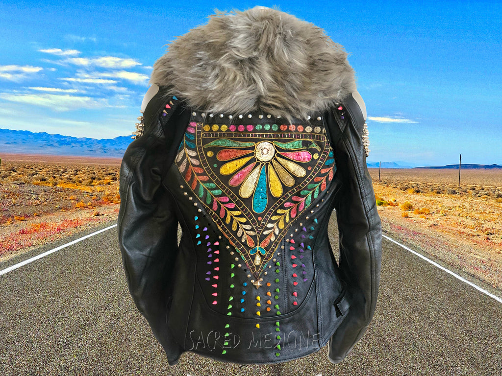 """Matrix of Love"" Certified Armor Motorcycle Chic Jacket"