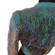 Load image into Gallery viewer, Mermaid Dream, Metallic Green Organza Cropped Bomber Jacket
