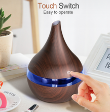 Load image into Gallery viewer, Wood Ultrasonic Air Humidifier Essential Oil Aromatherapy Cool Mist Maker